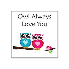 "owl7 Square Sticker 3"" x 3"""