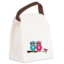 owl8 Canvas Lunch Bag