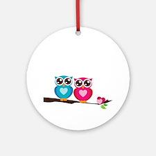owl8 Round Ornament