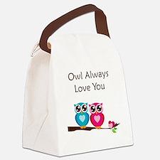 owl10 Canvas Lunch Bag