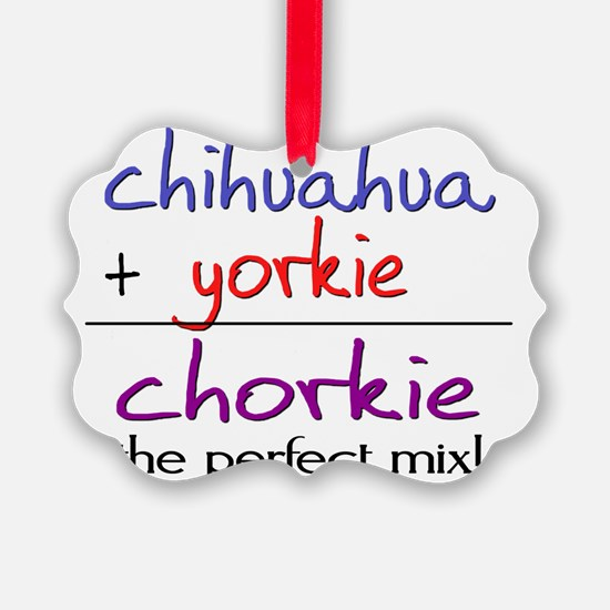 chorkie Ornament