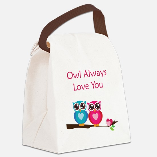 owl12 Canvas Lunch Bag
