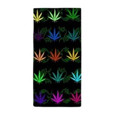 Rainbow Weed Garden Beach Towel