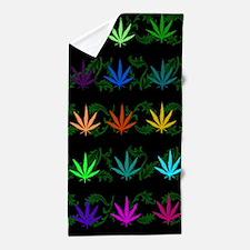 Rainbow Weed Garden Beach Towel