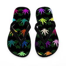 Rainbow Weed Garden Flip Flops