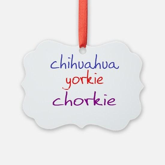 chorkie_black Ornament