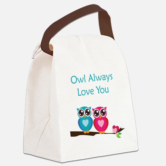 owl11 Canvas Lunch Bag