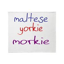 morkie_black Throw Blanket
