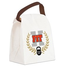 crossfit cross fit champion light Canvas Lunch Bag