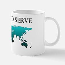 calledtoserveplainteal Mug