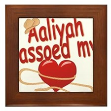aaliyah-g-lassoed Framed Tile