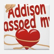 addison-g-lassoed Tile Coaster