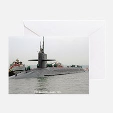 georgia ssbn large framed print Greeting Card