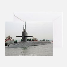 georgia ssbn rectangle magnet Greeting Card
