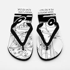 6407_driving_cartoon Flip Flops