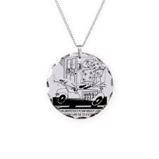 6407_driving_cartoon Necklace