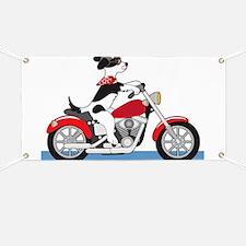 Dog Motorcycle Banner