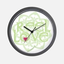 dark reel love for irish dance with hea Wall Clock