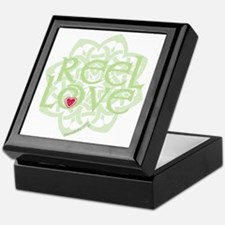 dark reel love for irish dance with h Keepsake Box