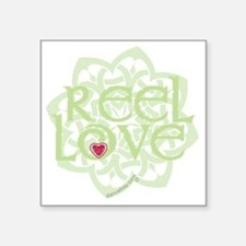 "dark reel love for irish da Square Sticker 3"" x 3"""