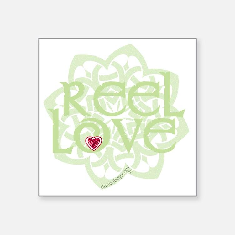 """dark reel love for irish da Square Sticker 3"""" x 3"""""""