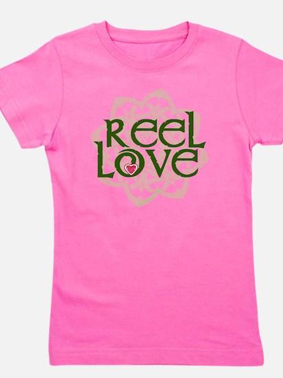 reel love for irish dance with heart an Girl's Tee
