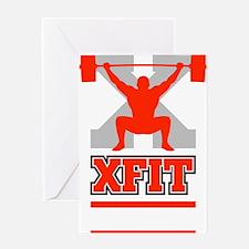 Crossfit Cross Fit Champion Lifter Dark Greeting C