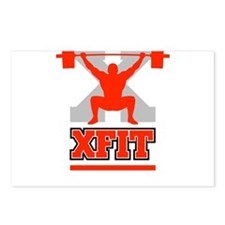 Crossfit Cross Fit Champion Lifter Dark Postcards