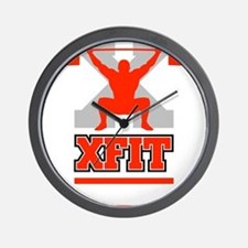 Crossfit Cross Fit Champion Lifter Dark Wall Clock