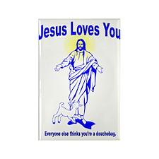 Jesus douche Rectangle Magnet