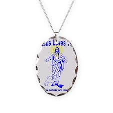 Jesus douche Necklace Oval Charm
