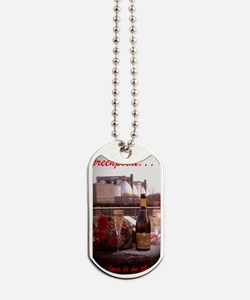 Where love is in the air CARD5by7a Dog Tags