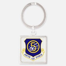 5th-Air-Force Square Keychain