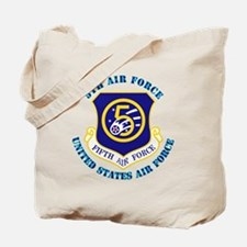 5th-Air-Force-txt Tote Bag
