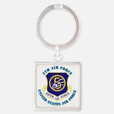 5th-Air-Force-txt Square Keychain
