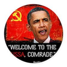 Comrade Obama T-Shirt Round Car Magnet