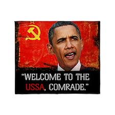 Comrade Obama T-Shirt Throw Blanket
