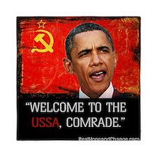 Comrade Obama T-Shirt Queen Duvet