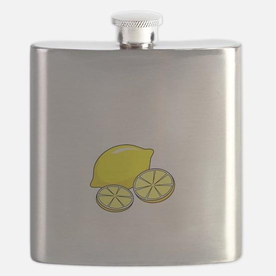 Free Lemons White Flask