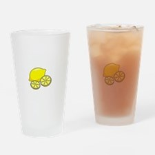 Free Lemons White Drinking Glass