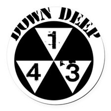 143 Down Deep Round Car Magnet