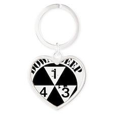 143 Down Deep Heart Keychain