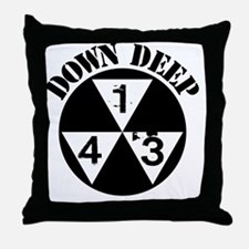 143 Down Deep Throw Pillow