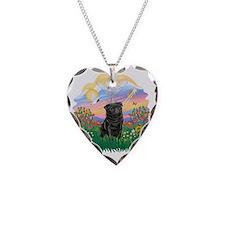 Guardian - Black Pug 17-nc Necklace