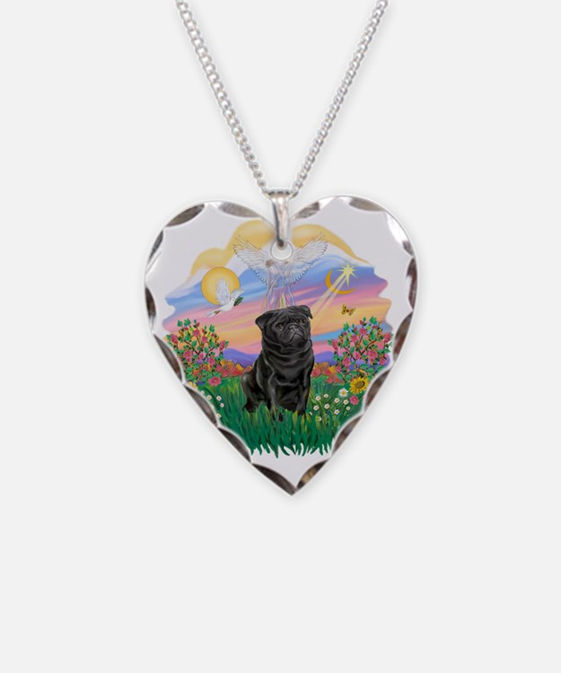 Guardian - Black Pug 17-nc Necklace