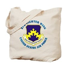 8th-Fighter-Wing-txt Tote Bag