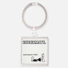 Checkmate Square Keychain