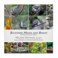 Backyard Babies Hummingbird Calendar Tile Coaster