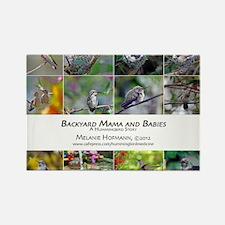 Backyard Babies Hummingbird Calen Rectangle Magnet