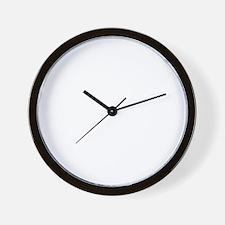 PugsNotDrugsWHITE Wall Clock